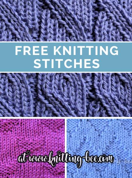 free knitting stitches at www.knitting-bee.com vjshriy