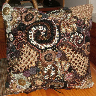 freeform crochet chocolate box; by renate kirkpatrick zgatlnd