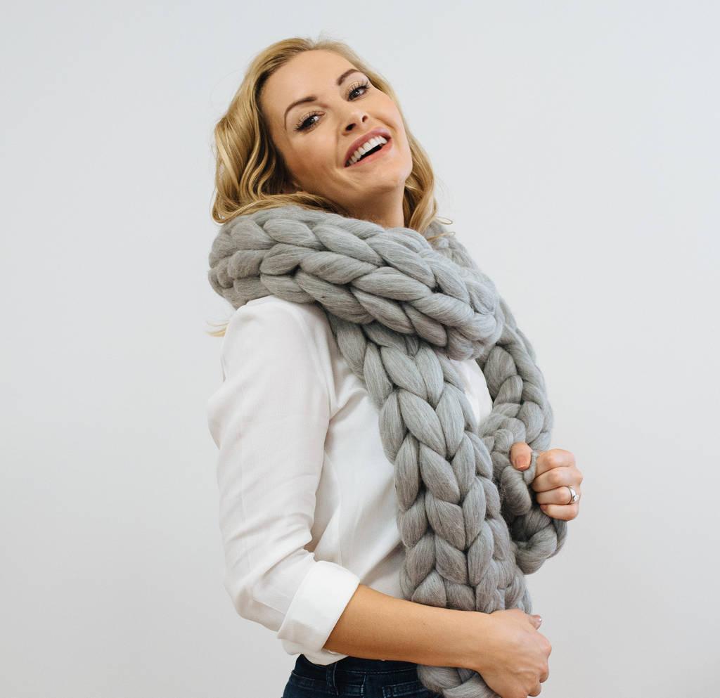 giant chunky knit scarf vsagadk