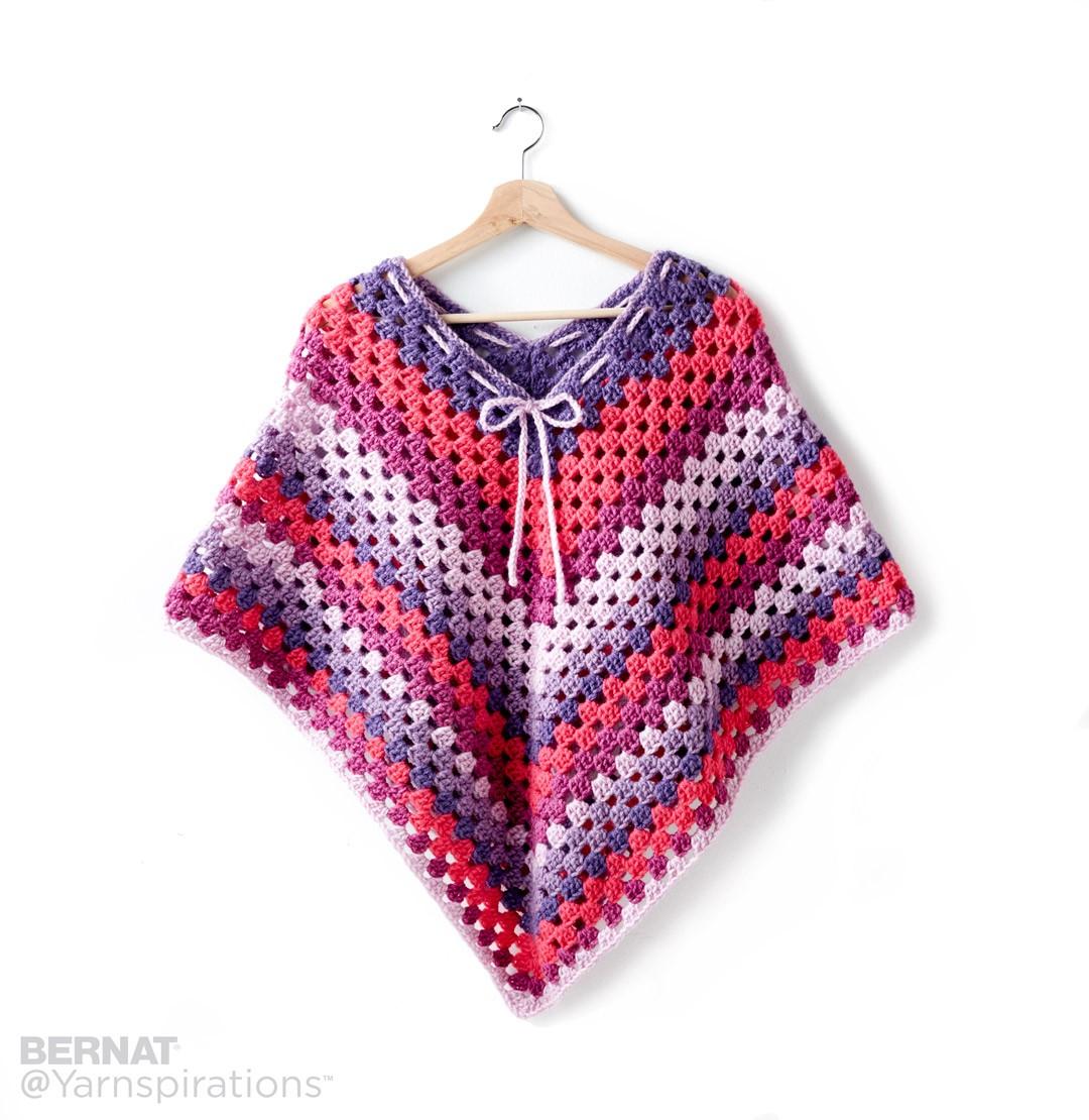 girlu0027s crochet poncho vgxishy