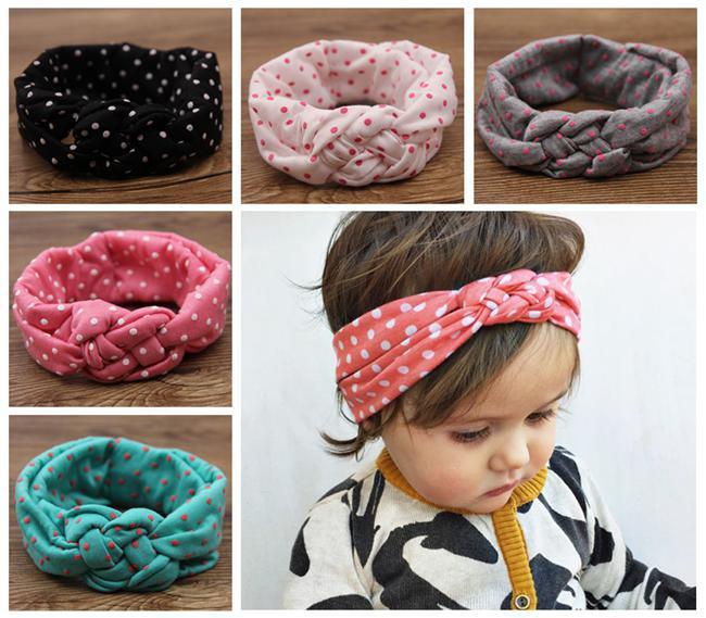 girls crochet headbands baby polka dot crochet headbands girls christmas hair braided head wrap  infant huertkl