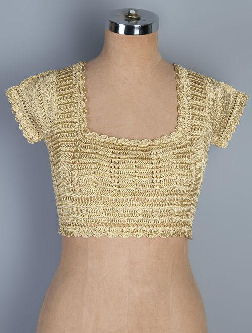 golden neemzari thread crochet blouse cbrlkyz