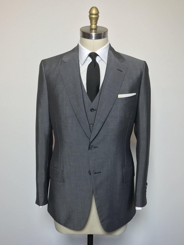 grey three piece dormeuil mohair suit luoleql