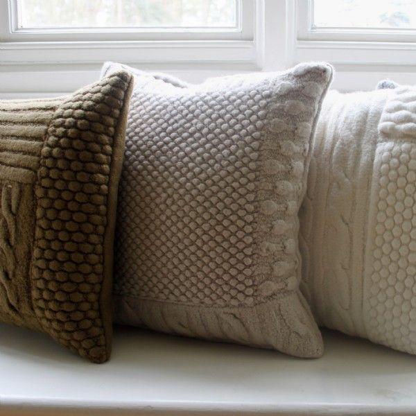 hand-knitted cushions owldolk