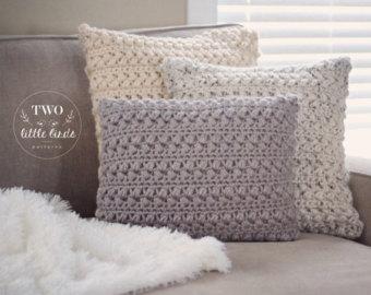 home decor, crochet pattern, crochet pillow, crochet throw pillow cover,  customizable to wviymcd