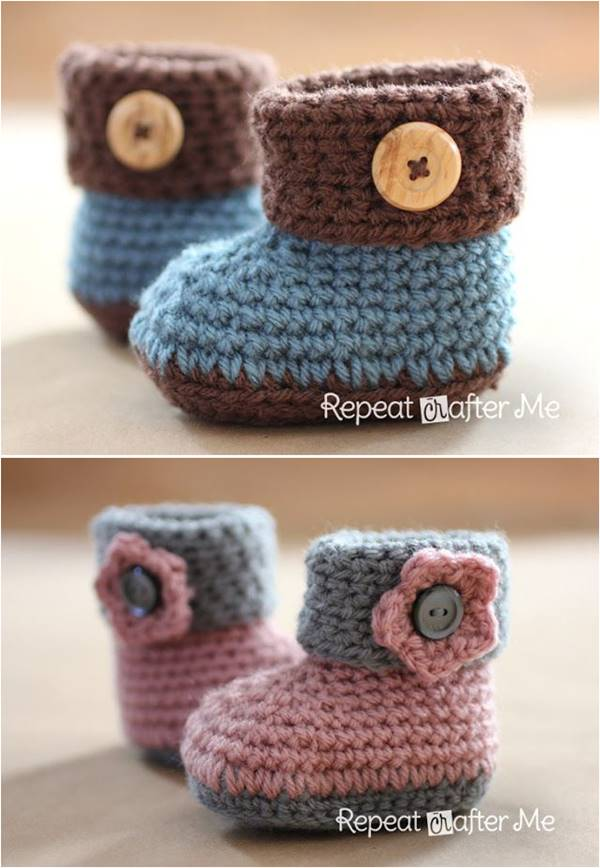 how to crochet baby booties 40+ adorable and free crochet baby booties patterns --u003e crochet cuffed baby rkkxqzo