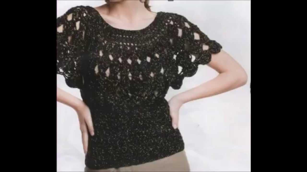how to crochet blouse black free pattern - youtube iwmqaac