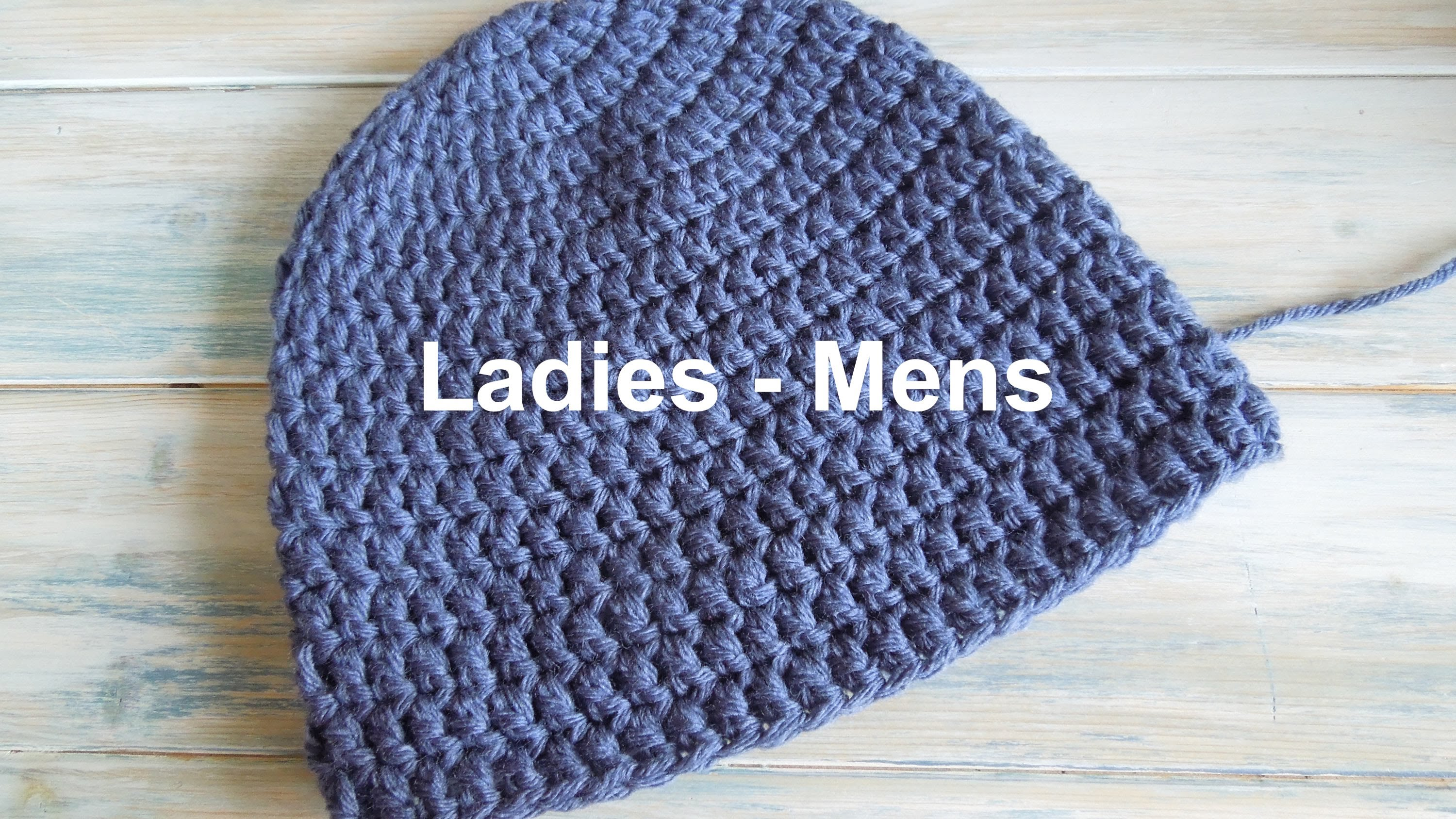 How To Crochet Easy (crochet) how to - crochet a simple beanie for ladies - mens size mkixxbl