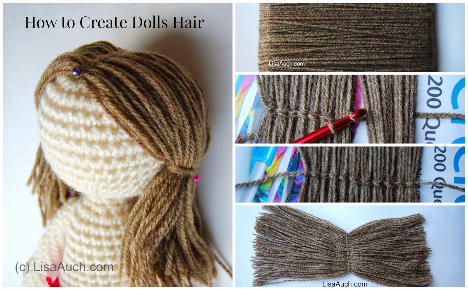 How To Crochet Easy how to crochet dolls hair (easy) donfbms