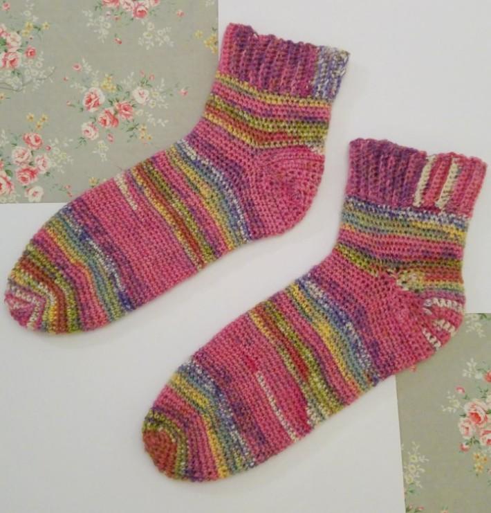 how to crochet socks negative ease 1 ldyaegy