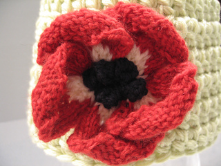 how to knit a flower anemone; by lesley stanfield irsgalp
