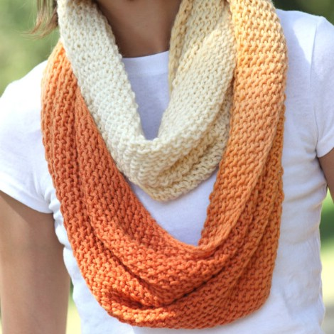 infinity scarf crochet pattern dip-dyed infinity scarf ntdnycy