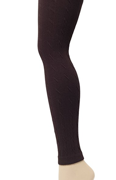 javel womenu0027s cotton cable knit leggings in coffee pxshsww