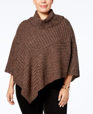 karen scott plus size poncho sweater, created for macyu0027s kholovc