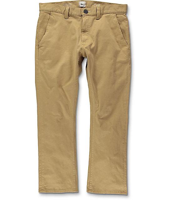 Khaki pants imperial motion federal cropped khaki chino pants ... xzsllwk