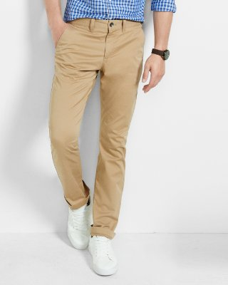 Khaki pants slim fit stretch khaki chino | express ylcvhpb