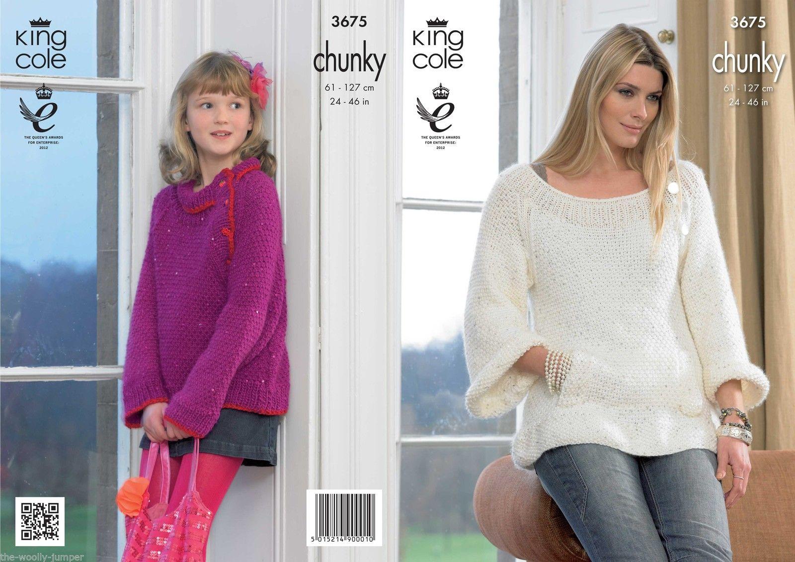 king cole knitting patterns 3675 - king cole galaxy chunky tunic u0026 sweater knitting pattern - to azhiehm