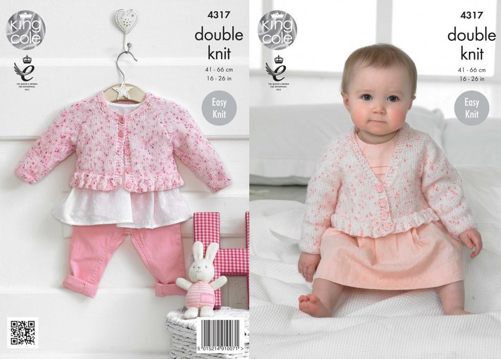 king cole knitting patterns king cole baby cardigans smarty baby dk knitting pattern 4317 dwdrnmw
