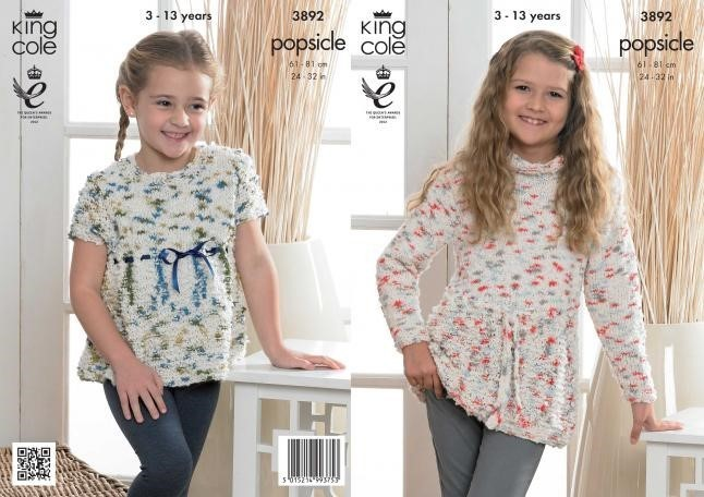 king cole knitting patterns king cole popsicle girls tunic and top knitting pattern 3892 esrbpvp