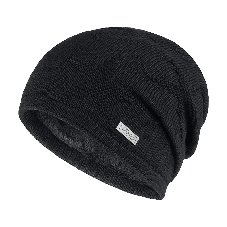 knit beanie winter knit slouchy beanie hat unisex daily warm ski skull cap 4 colors zpdisns
