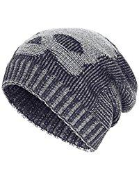 knit beanie winter slouchy beanie hats unisex skull knit wool ski cap hat 4 colors glakkwl