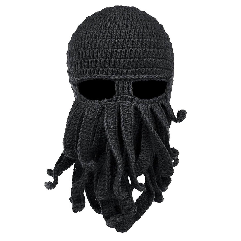 knit cap vbiger beard hat beanie hat knit hat winter warm octopus hat windproof boerzmh