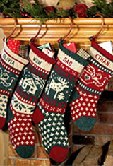 Knit Christmas Stockings for the family: classic knitted · personalized pet christmas stockings zvbrdqj