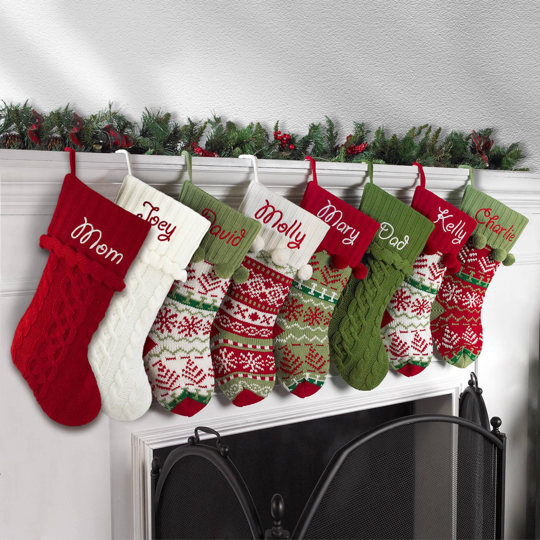 Knit Christmas Stockings personalized snowflake knit christmas stocking, available in 11 designs -  walmart.com ctmtdkk