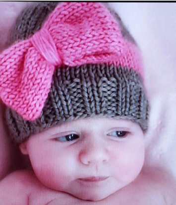 knitted baby hats big bow baby hat free knitting pattern and more baby hat knitting patterns mghhbqo