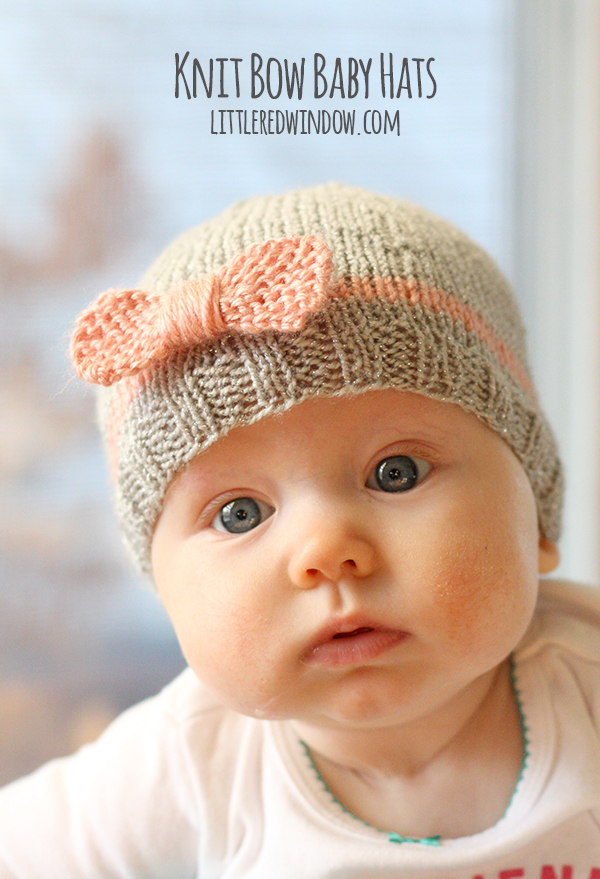 knitted baby hats knit bow baby hats   littleredwindow.com   a quick easy and free knitting kcofjul