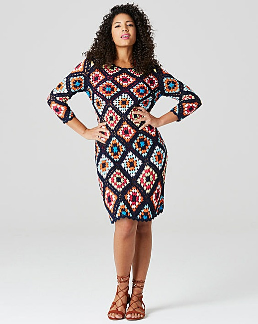 knitted crochet tunic dress rfiiacp