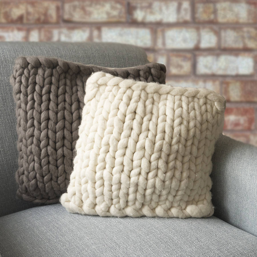 knitted cushions barnstaple chunky knitted panel cushion hrmwctg qdgueso