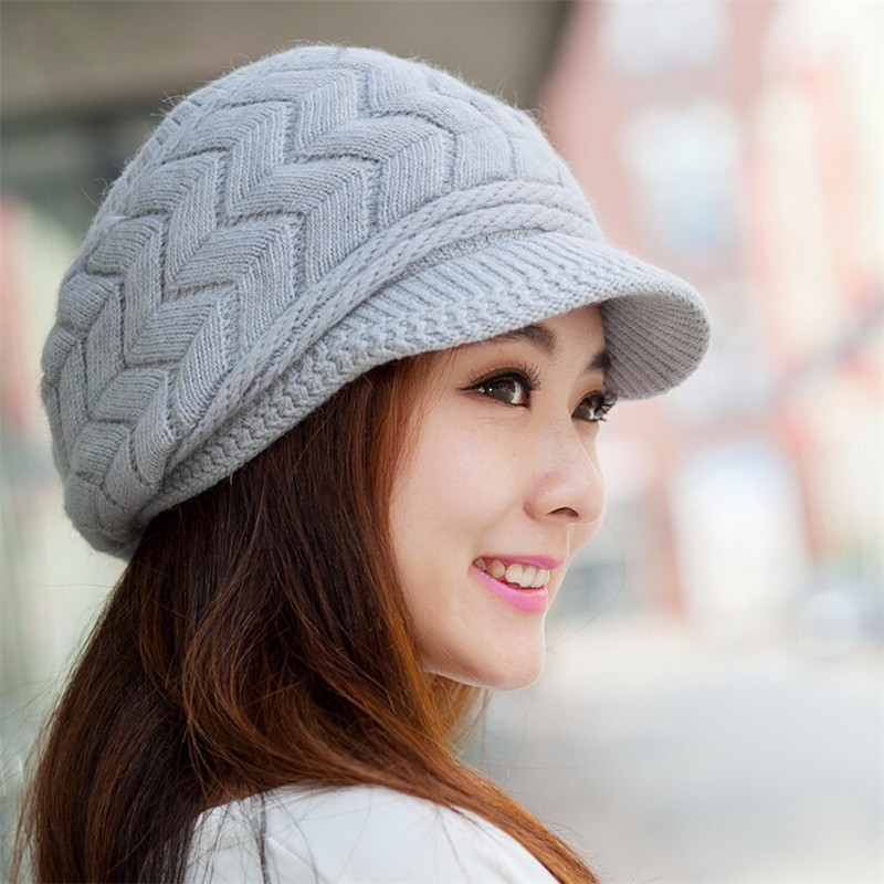 knitted hats bonjean 8 colors peaked cap women knitted hat autumn winter beanies caps jktebhr