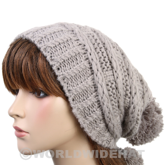 knitted hats classic crochet hat knitted cap pom beanie woman gray be922g dzfbkxp