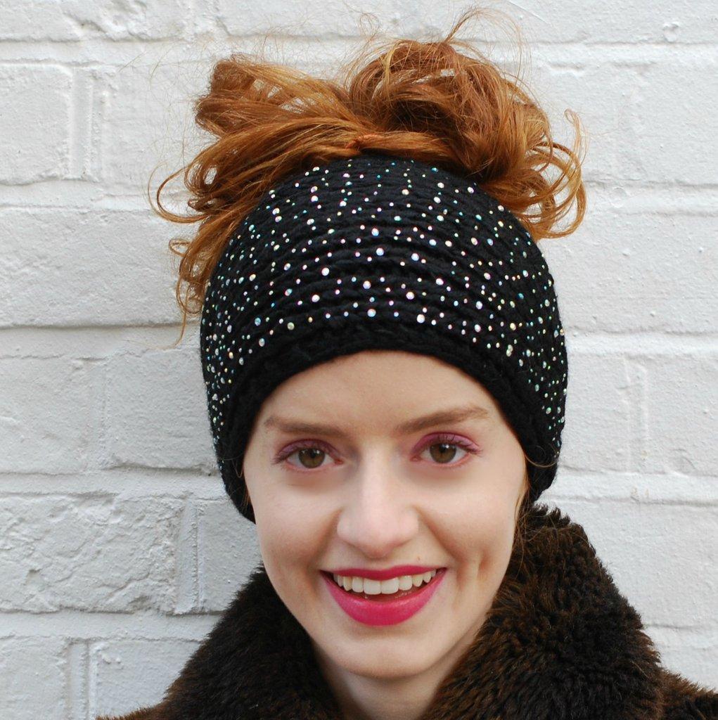 knitted headband black ski headband wrqxawj