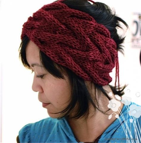knitted headband free pattern: vanessa headband lwubgou