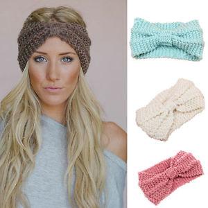 knitted headband image is loading fashion-knitted-headbands-women-crochet-headband-wrap-wide- yhrezqb