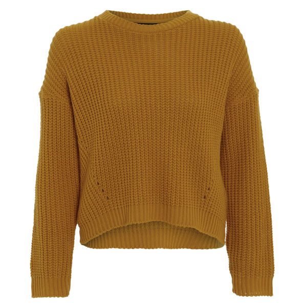 knitted jumpers damned delux womenu0027s cesca knitted jumper - mustard gold: image 1 jyvilim