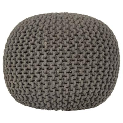 knitted pouf charcoal knitted pouffe kbimacz