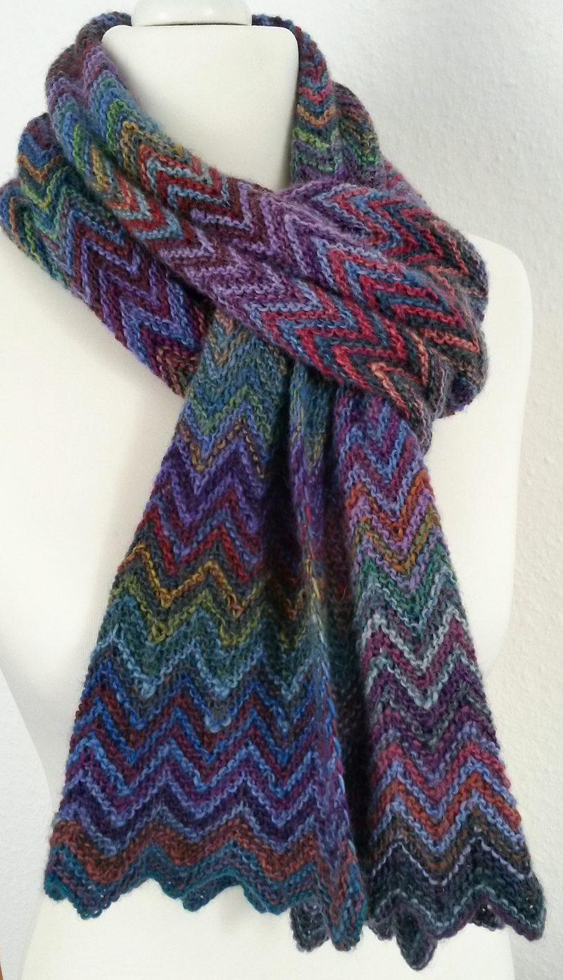 knitted scarves free knitting pattern zick zack scarf sbkzayw