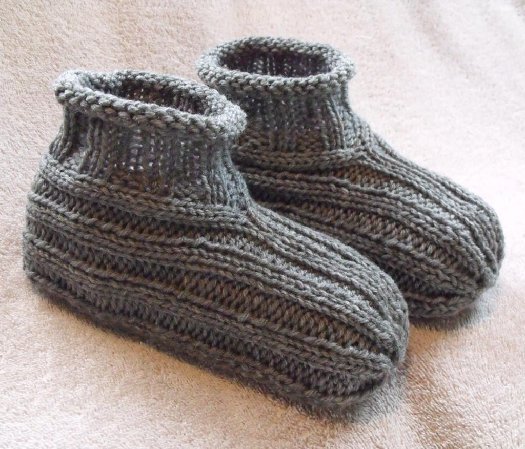 knitted slippers adult bootie slippers free knitting pattern flqhtue