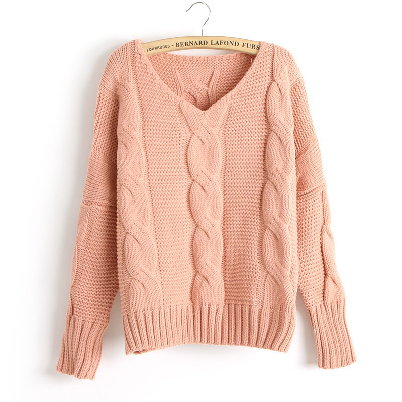 knitted sweaters new arrival twist bat sleeve knitted sweater gnsfrtg