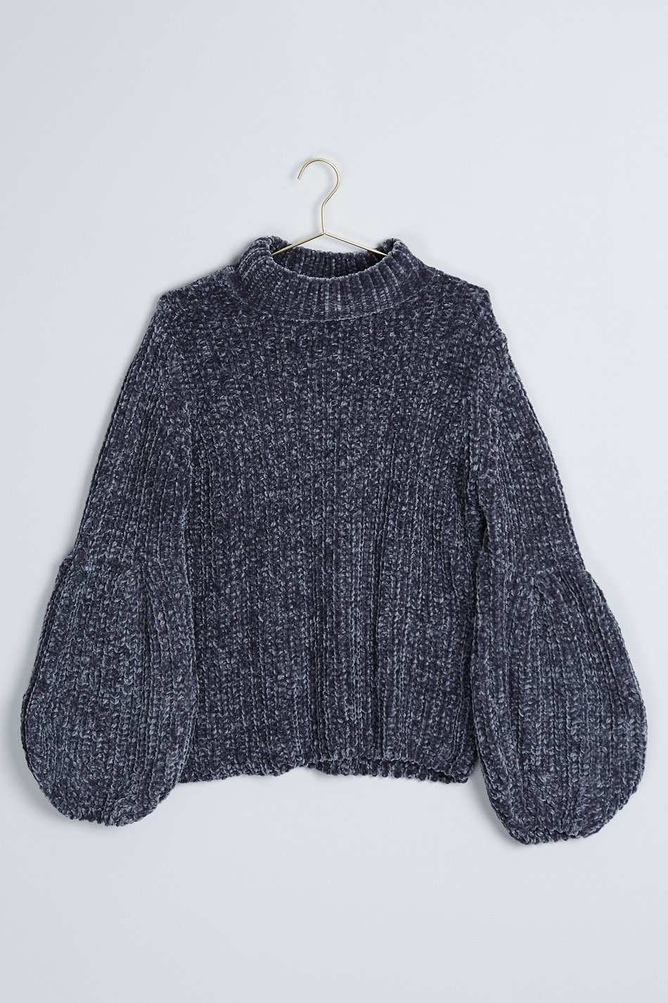 knitted sweaters ... sophie knitted sweater blue hniilyx