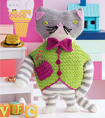 Knitted Toys fancy cat ... tajddbr