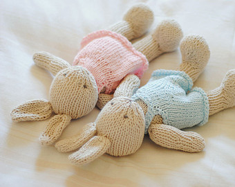 Knitted Toys made to order hand knitted bunny knitted toy stuffed animal first birthday wljqnzh