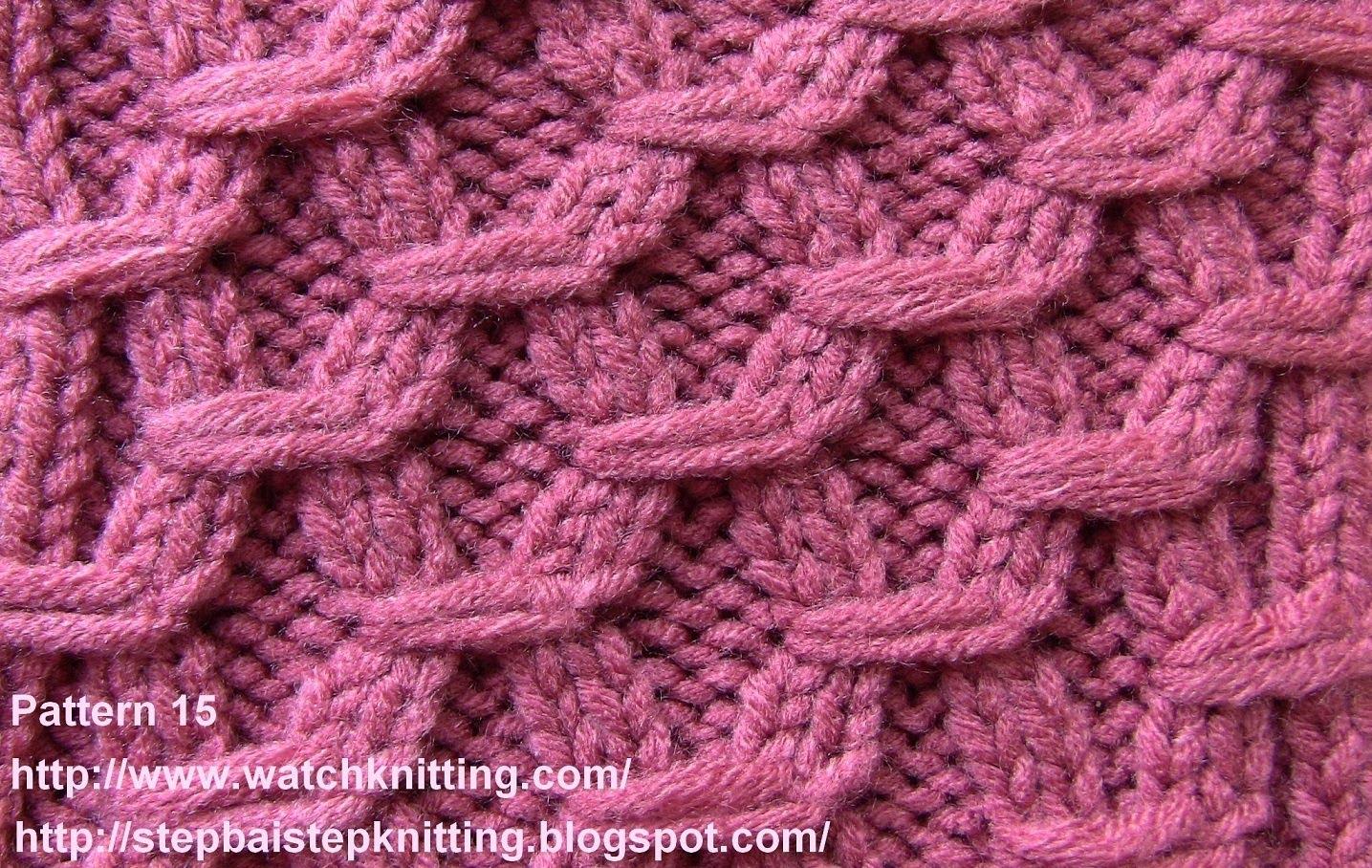 Knitting Designs (hexagonal ) - embossed stitches - free knitting tutorial - watch knitting zkwnibb