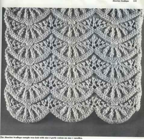 Knitting Designs scallop stitch knitting owdghpb