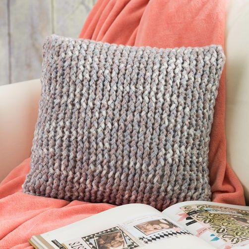 Knitting Ideas loom knit throw pillow auntqpy