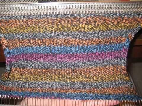 knitting machine patterns making a sock on a flat-bed knitting machine qetyoik