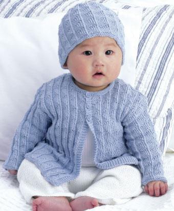 knitting patterns for babies free-baby-cardigan-and-hat-knitting-pattern hjkixdz